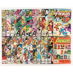 """Lot of (23) 1980-1990 """"The Mighty Avengers"""" 1st Series Marvel Comic Books"""