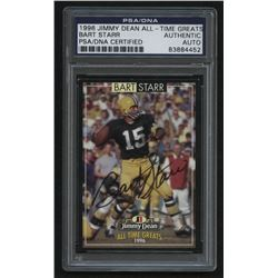 Bart Starr Signed 1996 Jimmy Dean All-Time Greats #4 (PSA Encapsulated)