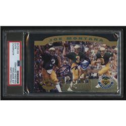 "Joe Montana Signed LE 1995 Upper Deck ""A Golden Tradition"" Football Card (PSA Encapsulated)"