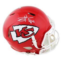Travis Kelce Signed Kansas City Chiefs Full-Size Authentic On-Field Speed Helmet (Radtke COA)