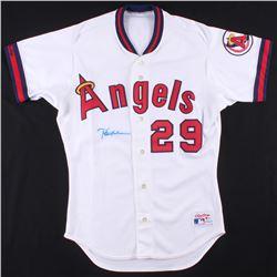 Rod Carew Signed California Angels Jersey (Beckett COA)