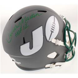 "Curtis Martin Signed New York Jets AMP Alternate Speed Full Size Helmet Inscribed ""HOF 12"" (Beckett"