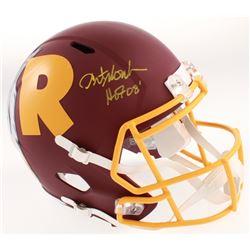 "Art Monk Signed Washington Redskins Full Size AMP Alternate Speed Helmet Inscribed ""HOF 08"" (Beckett"