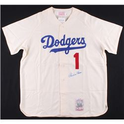 Pee Wee Reese Signed Los Angeles Dodgers Jersey (Beckett COA)