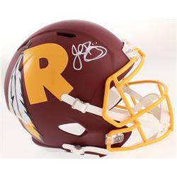 John Riggins Signed Washington Redskins AMP Alternate Speed Full-Size Helmet (Beckett COA)