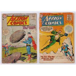 "Lot of (2) 1955-1956 ""Superman"" Action Comics DC Comic Books"