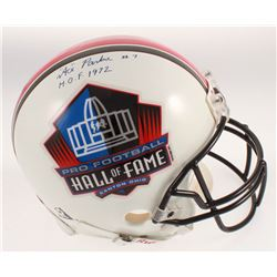 """Clarence Parker Signed Pro Football Hall of Fame Full-Size Authentic On-Field Helmet Inscribed """"H.O."""