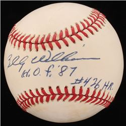 """Billy Williams Signed ONL Baseball Inscribed """"HOF 87""""  """"#426HR"""" (Beckett COA)"""