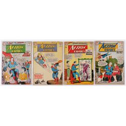 "Lot of (4) 1959-1960 ""Superman"" Action Comics DC Comic Books"