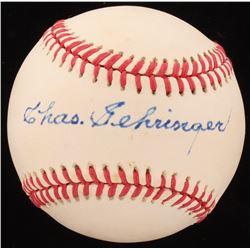 Charlie Gehringer Signed OAL Baseball (Beckett COA)