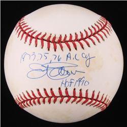 "Jim Palmer Signed OAL Baseball Inscribed ""1973, 75, 76 A.L. CY""  ""HOF 1990"" (Beckett COA)"