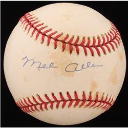 Mel Allen Signed OAL Baseball (Beckett COA)