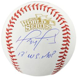 "David Ortiz Signed 2013 World Series Baseball Inscribed ""13 WS MVP"" (Fanatics Hologram)"