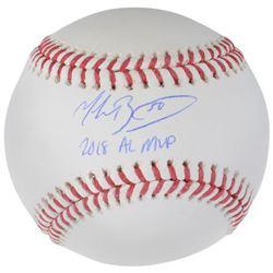 "Mookie Betts Signed Baseball Inscribed ""2018 AL MVP"" (Fanatics Hologram)"