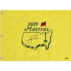 Tiger Woods Signed 2019 Masters Golf Pin Flag (UDA COA)
