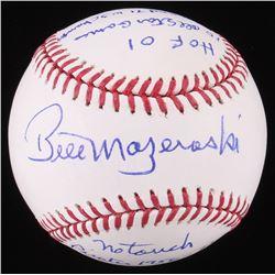 Bill Mazeroski Signed OML Baseball With Multiple Career Stat Inscriptions (Beckett COA)