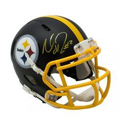 Mason Rudolph Signed Pittsburgh Steelers Matte Black Speed Mini-Helmet (JSA COA)