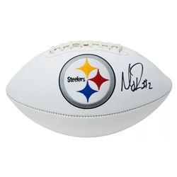 Mason Rudolph Signed Pittsburgh Steelers Logo Football (JSA COA)