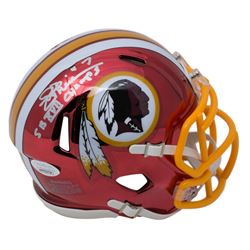 "Joe Theismann Signed Redskins Chrome Speed Mini-Helmet Inscribed ""SB XVII Champs"" (JSA COA)"