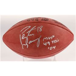 """Peyton Manning Signed Official NFL Game Ball Inscribed """"MVP 49 TD's '04"""" (Beckett COA)"""
