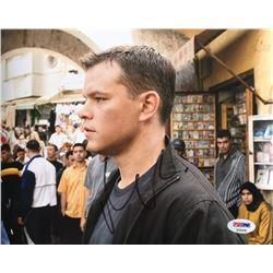 """Matt Damon Signed """"The Bourne Supremacy"""" 8x10 Photo (PSA COA)"""