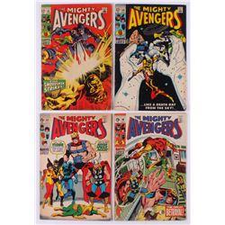 """Lot of (4) 1969 """"The Avengers"""" Marvel Comic Books"""