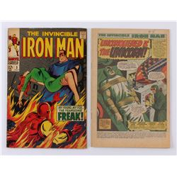 """Lot of (2) 1968 """"Iron Man"""" 1st Series Issues #3  #4 Marvel Comic Books"""