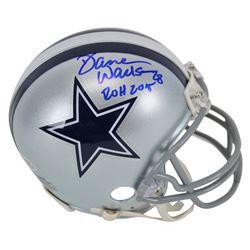 """Darren Woodson Signed Dallas Cowboys Mini Helmet Inscribed """"ROH 2015"""" (Beckett COA)"""
