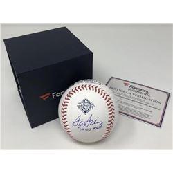 "Stephen Strasburg Signed 2019 World Series Baseball Inscribed ""19 WS MVP"" (Fanatics Hologram)"