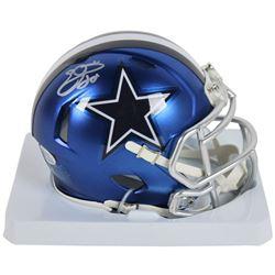 Emmitt Smith Signed Dallas Cowboys Blaze Speed Mini Helmet (Beckett COA  Prova Hologram)