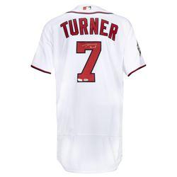 Trea Turner Signed Washington Nationals Jersey (Fanatics Hologram)