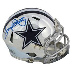 Tony Dorsett Signed Dallas Cowboys Chrome Speed Mini Helmet (Beckett COA)