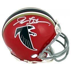 Deion Sanders Signed Atlanta Falcons Mini Helmet (Beckett COA)