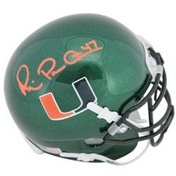Michael Irvin Signed Miami Hurricanes Mini Helmet (Beckett COA)