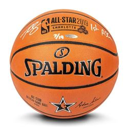 """Ben Simmons Signed LE 2019 All-Star Game Official NBA Game Ball Basketball Inscribed """"1st ASG"""" (UDA"""
