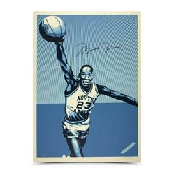 Michael Jordan Signed North Carolina Tar Heels 24x36 Silkscreen Print (UDA COA)
