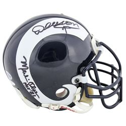 """Fearsome Foursome"" Los Angeles Rams Throwback Mini Helmet Signed by (4) with Rosey Grier, Lamar Lun"