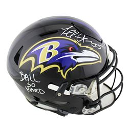 "Terrell Suggs Signed Baltimore Ravens Full-Size Authentic On-Field SpeedFlex Helmet Inscribed ""Ball"