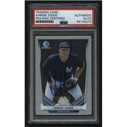 Aaron Judge Signed 2014 Bowman Chrome Draft Top Prospects #CTP39 (PSA Encapsulated)