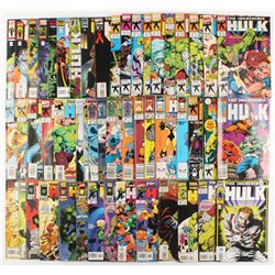 "Lot of (51) 1989-1999 ""The Incredible Hulk"" 1st Series Marvel Comic Books from #359-473"