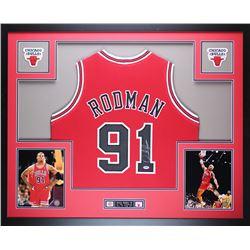 Dennis Rodman Signed 35x43 Custom Framed Jersey (PSA COA)
