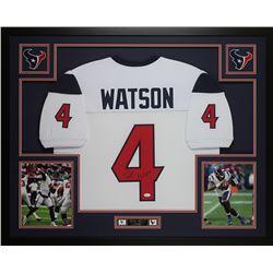 Deshaun Watson Signed 35x43 Custom Framed Jersey (JSA COA)