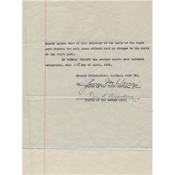 George Weiss Signed Document (JSA LOA)