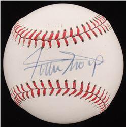 Willie Mays Signed OML Baseball (Beckett COA)