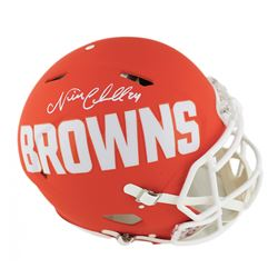 Nick Chubb Signed Cleveland Browns Full-Size Authentic On-Field Speed AMP Helmet (Radtke COA)