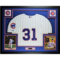Greg Maddux Signed 35x43 Custom Framed Jersey (MLB Hologram)