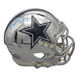 Randall Cunningham Signed Dallas Cowboys Chrome Speed Mini Helmet (Beckett COA)