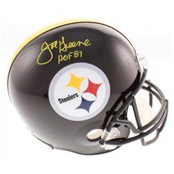 "Joe Greene Signed Pittsburgh Steelers Full-Size Helmet Inscribed ""HOF 87"" (Beckett COA)"