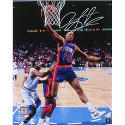 Dennis Rodman Signed Detroit Pistons 16x20 Photo (Beckett COA)