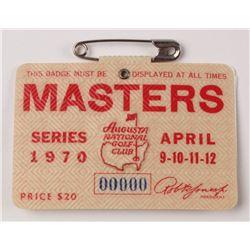1970 Masters Tournament Golf Badge